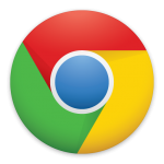 Google Chrome icon link to browser setting info